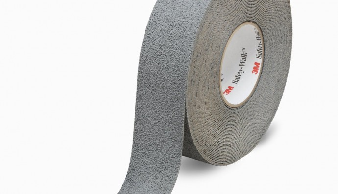 3M Safety walk slip resistant fine resilient tapes and treads 300 series 370 grey