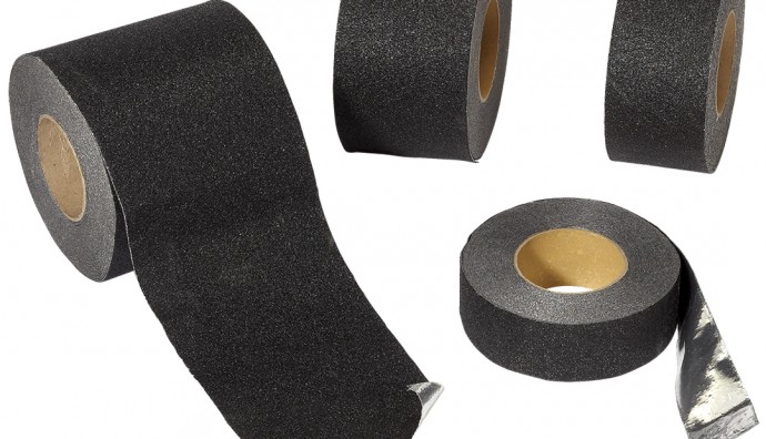 ANTI-SLIP TAPE BLACK WITH COMFORMABLE ALUMINIUM BACKING